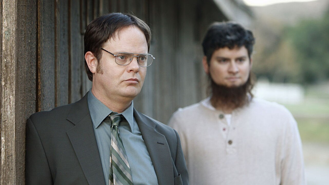 In addition to writing for The Office US, Mike Schur also had the onscreen role of Dwight's mercurial cousin Mose. Picture: Trae Patton/NBCU Photo Bank/NBCUniversal