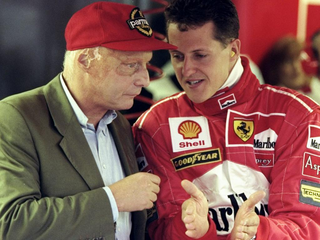 Niki Lauder and Michael Schumacher.