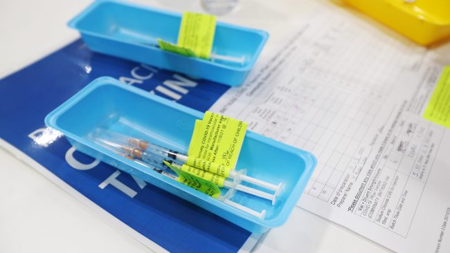 Of the new supply, 450,000 are Pfizer doses and 380,000 are AstraZeneca shots. Picture: Tara Croser - Pool/Getty Images