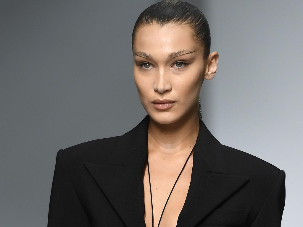 Structured shoulders were in at Mugler. Picture: AFP