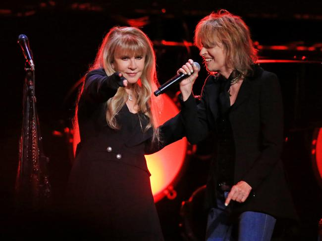 Stevie Nicks and Chrissie Hynde paid tribute to Tom Petty. Picture: Mark Stewart