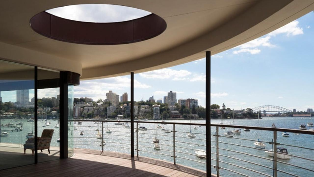 The view from the Point Piper waterfront that Rosselli designed for Mark and Louise Nelson.