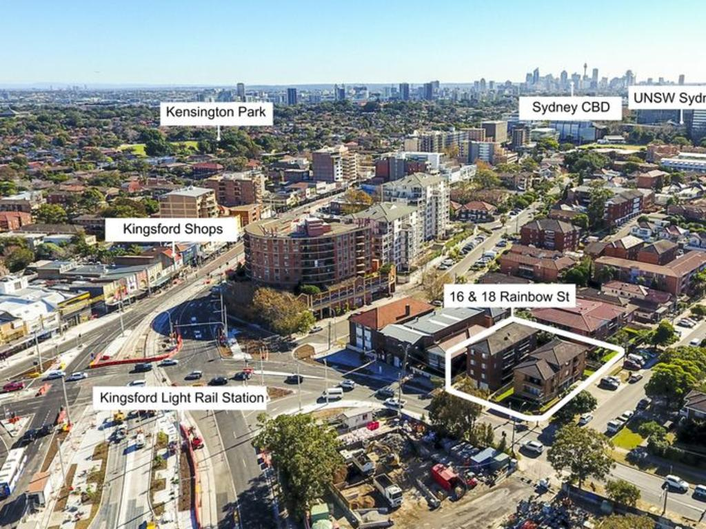 The well-located older-style apartment blocks at 16 and 18 Rainbow St, Kingsford (above) sold for $14.4 million and 65/15 Begonia St, Pagewood (below) sold for $820,000 in eight days.