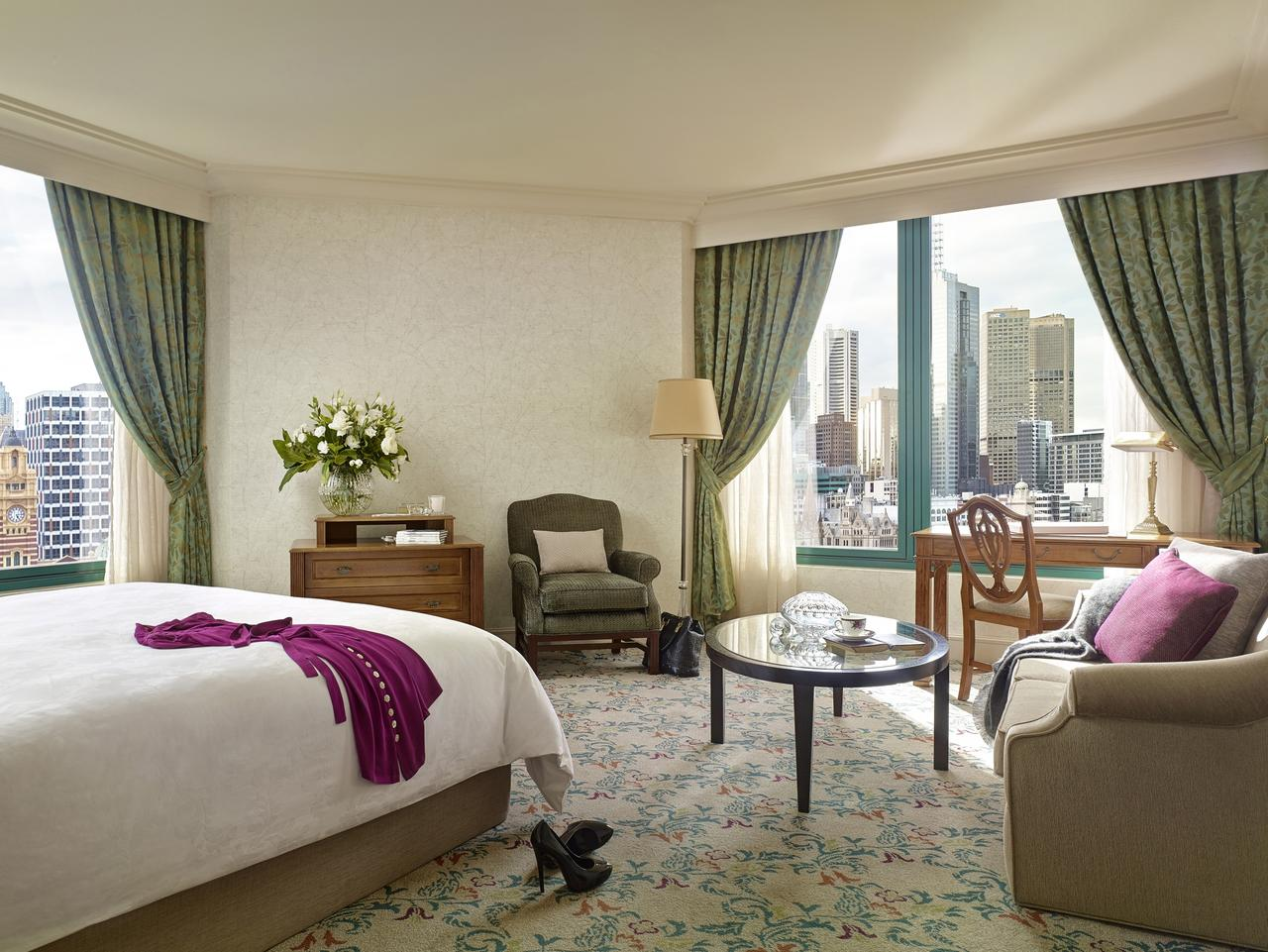 Supplied Travel WHAT'S YOUR BUDGET: SOUTHBANK. The Langham Melbourne Executive Room. For story by Celeste Mitchel