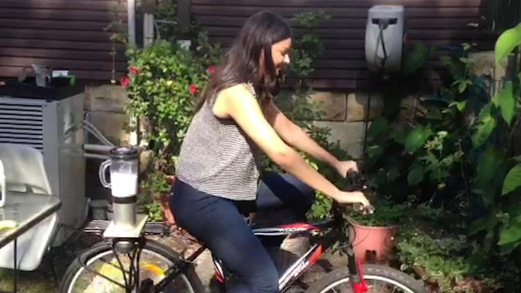 Pedal powered blender promotes sustainable living