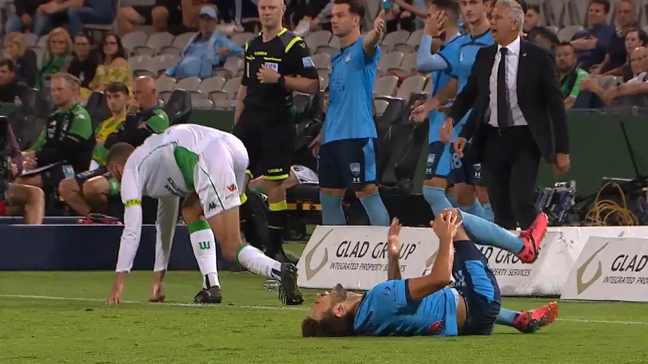 Sydney FC boss Steve Corica says rules need to be looked at before next season to prevent dirty challenges. Photo: Fox Sports