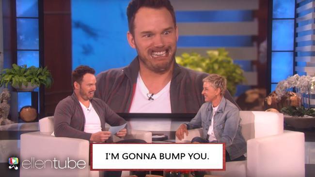 Chris Pratt realises what he's just said.