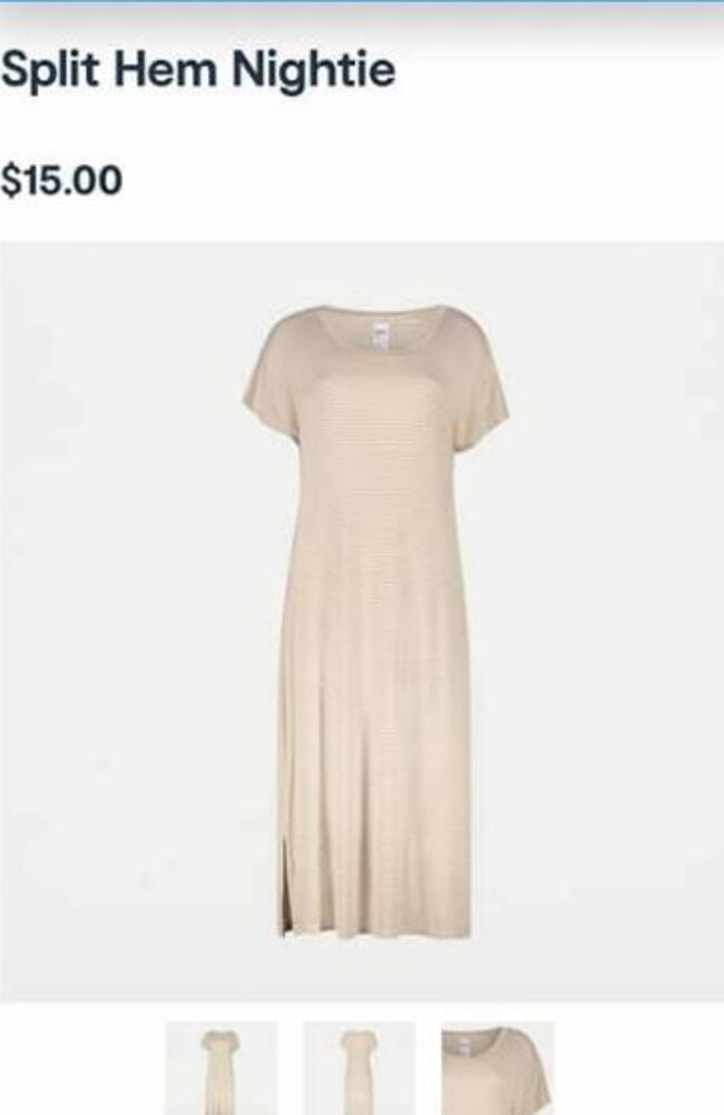 Another mum said she wear this 'split hem nightie' out on hot days. Picture: Facebook/IKEA, Kmart, Target, Big W, Aldi, etc
