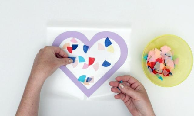Valentine's Day craft for kids: How to make a stained glass heart | Video