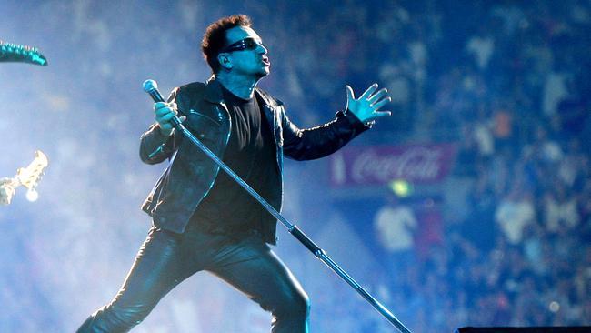 Irish band U2 has played the former Olympics venue twice. Picture: News Corp Australia.