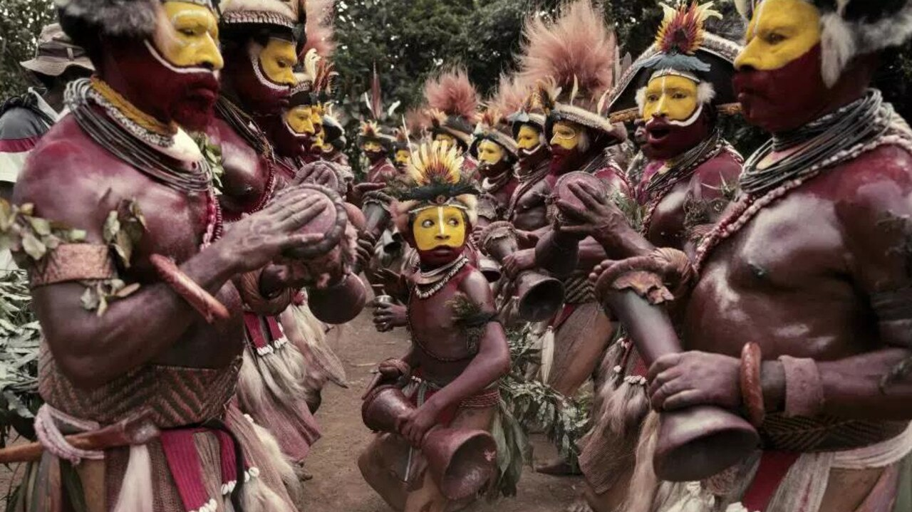 The Huli tribe in Papua New Guinea. Picture: Jimmy Nelson