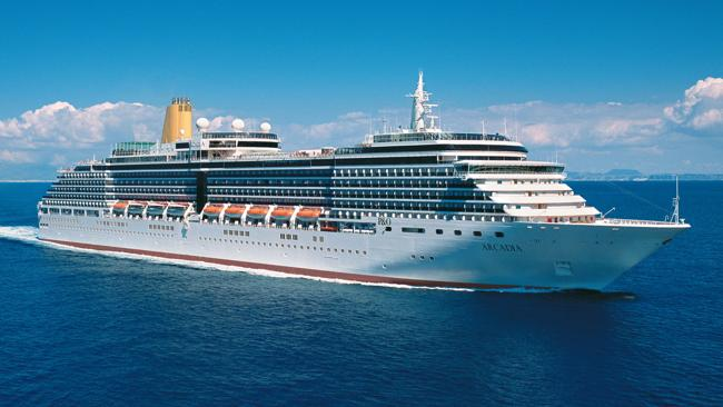 P&O liner Arcadia is making a trip from Los Angeles to Sydney in February. Picture: Supplied.
