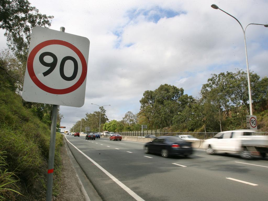 The driver was caught doing 133km/h in a 90km/h speed zone.
