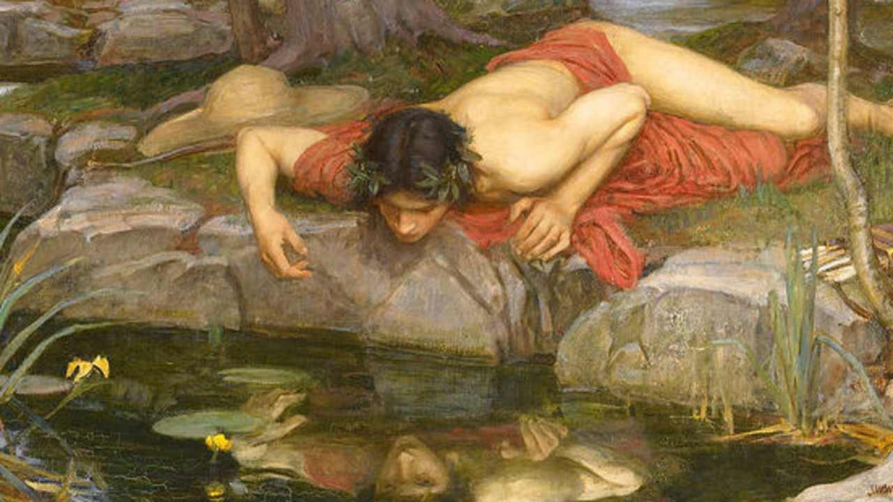 Narcissus was so in love with his own image and became distressed that he could not possess it.