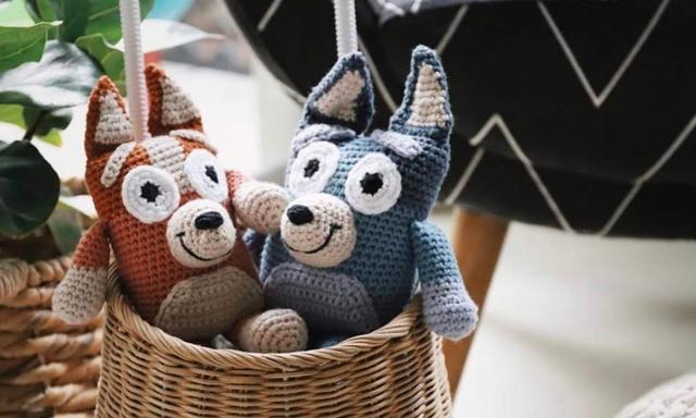 Bluey crochet dolls