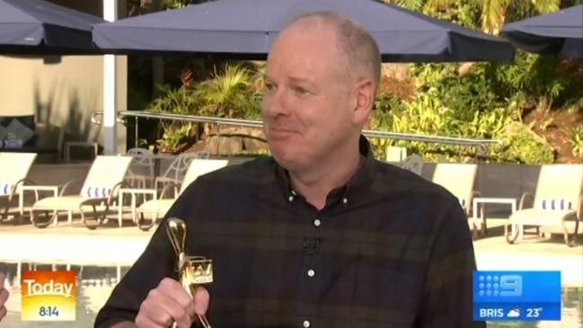 Tom Gleeson's wife grills him over Logies speech (Today Show)