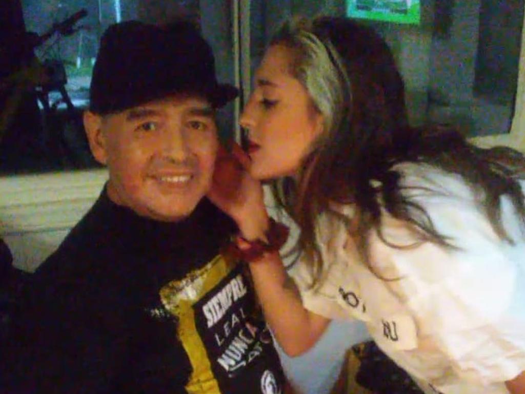 Diego Maradona and his daughter, Jana.