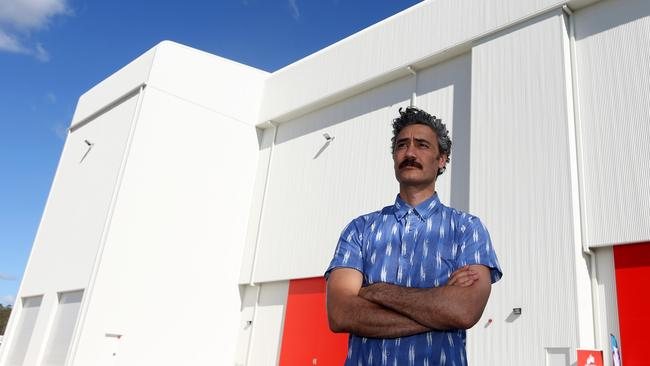 Taika Waititi stands outside the Village Roadshow sound stages where Thor: Ragnarok is filming. Picture: Regi Varghese