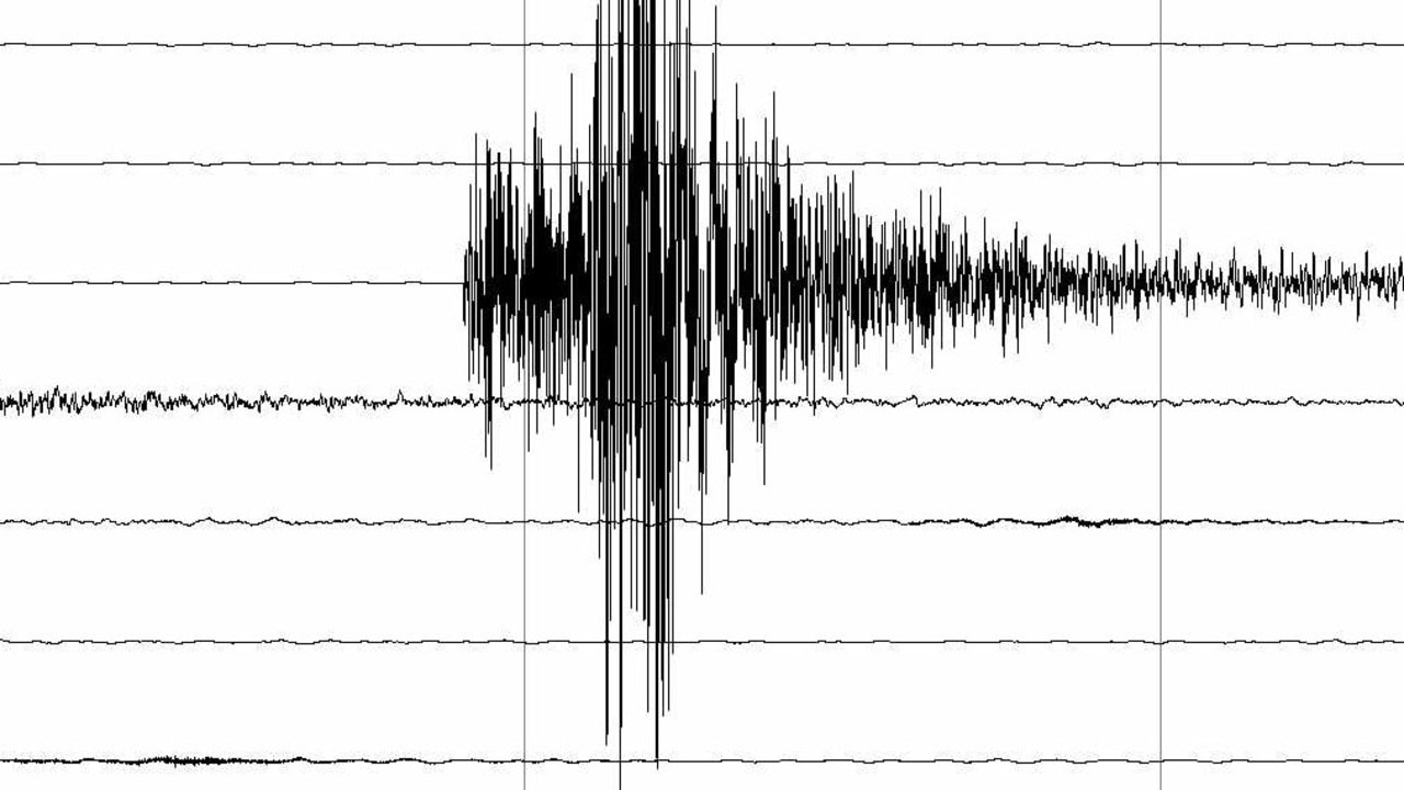The March 6th 2009 earthquake as measured by the Toolangi seismometer. Tremor. Melbourne. Epicentre at Korumburra.