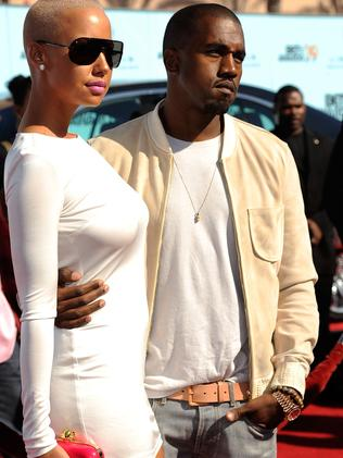 Amber and Kanye back in 2009. Picture: Frazer Harrison/Getty Images