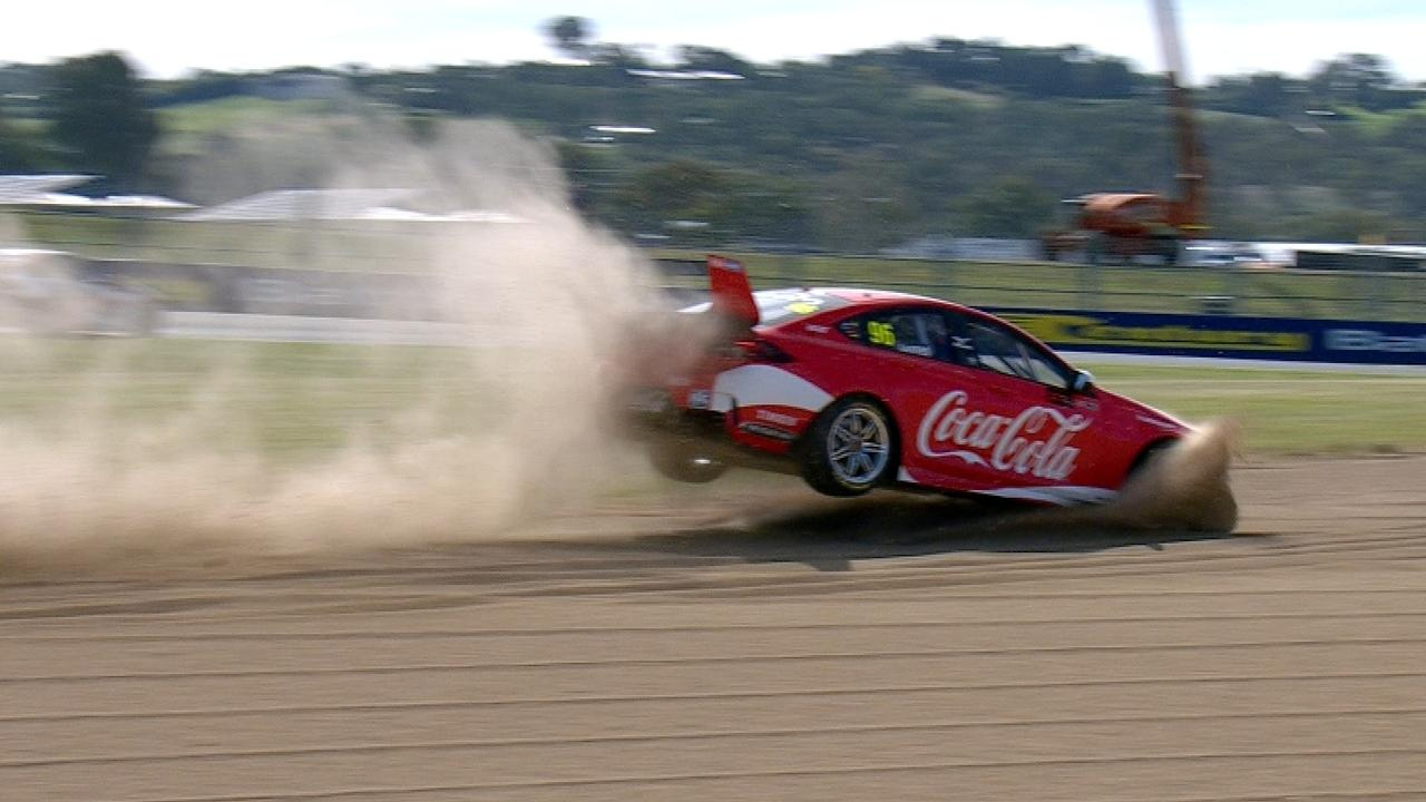 Macauley Jones gave new meaning to a flying lap when he sent his BJR entry into the gravel trap.