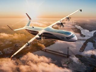 British inventors have unveiled a hybrid airplane that can be used for commercial passenger or cargo flights Credit: EAG
