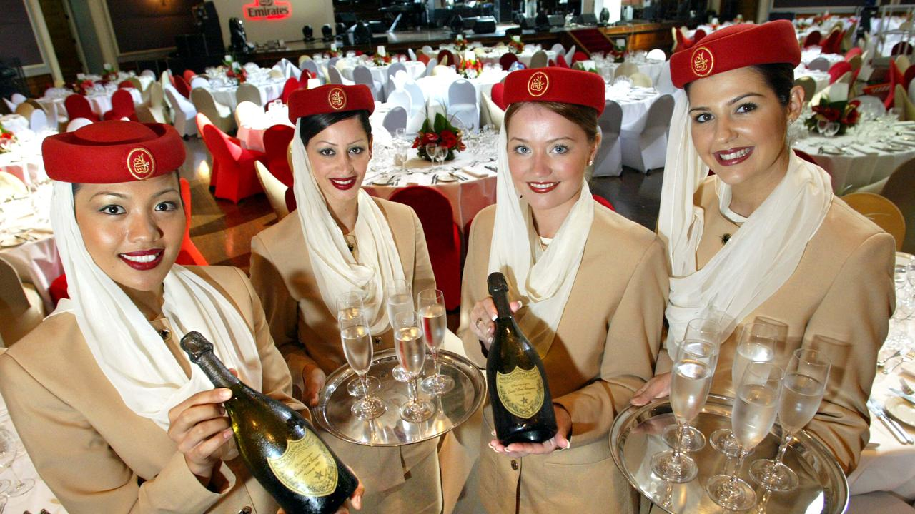 Emirates flight attendants are famously well-groomed. Picture: Derek Moore