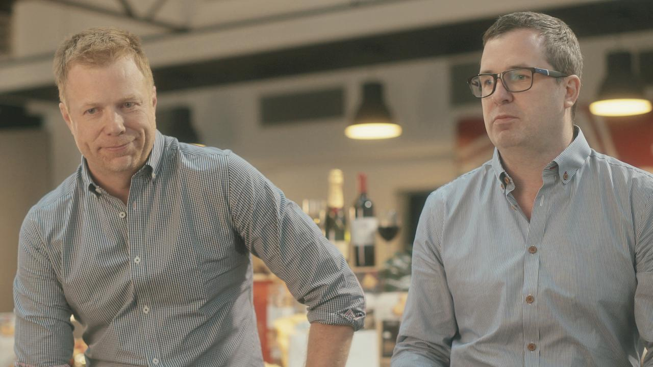 Telemarketer Rory Boyle (right) and his truckie brother Nick found surprising success through the gift hamper industry. Picture: Supplied