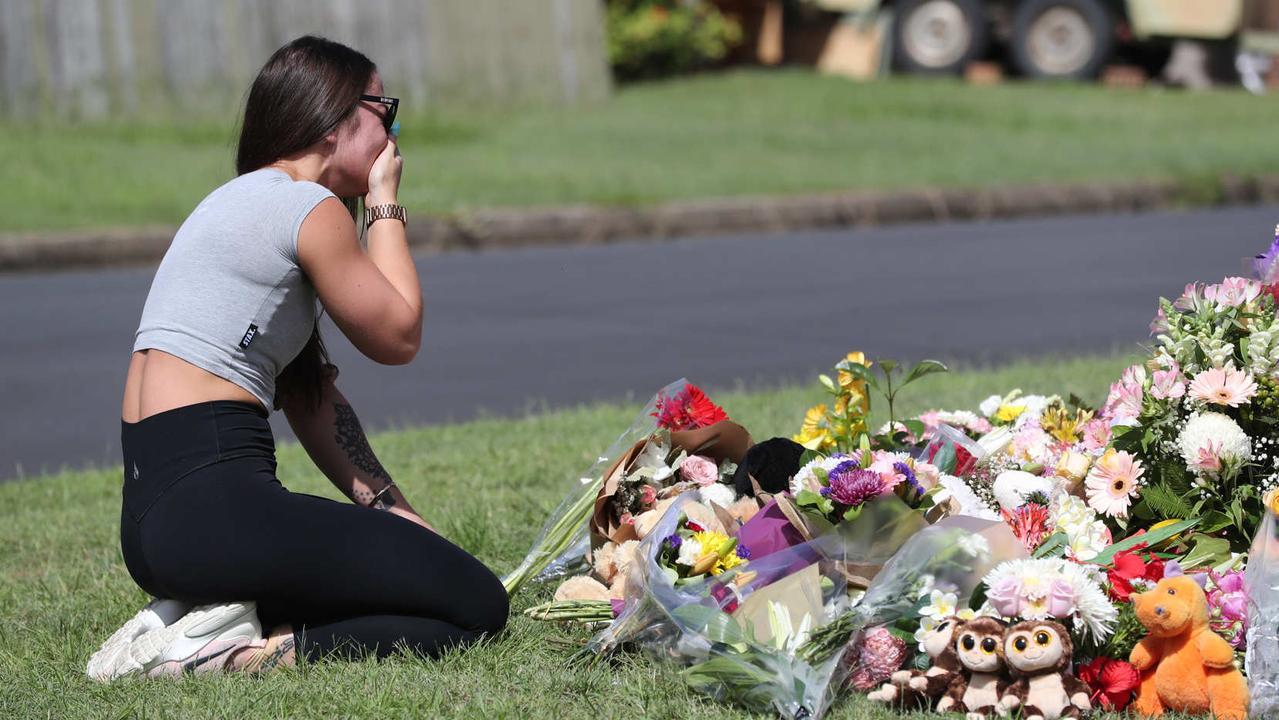 Family friend Korri Loader at the scene. Picture: Peter Wallis