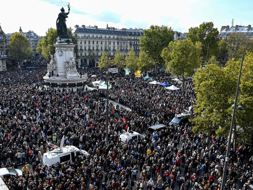 Tens of thousands of people joined demonstrations across France. Picture: Bertrand Guay/AFP