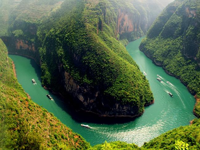 4. YANGTZE RIVER: Winding about 6,300km from the Qinghai-Tibet Plateau all the way to the East China Sea at Shanghai, the Yangtze River is the longest river in China and third longest in the world. There's no shortage of towns and scenic places to explore, from the famous Three Gorges to China's largest inland port in Chongqing. In Hubei province, you'll find the world's largest dam and hydro-electric power station — the Three Gorges Dam. Or check out 1000-year-old stone carvings in the World Heritage lists Beishan Frescoes. Picture: Sanctuary Resorts