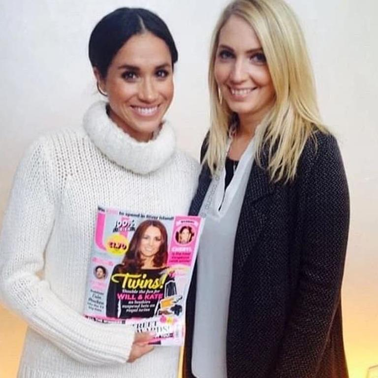 Meghan Markle pictured with deputy editor Denise Cash of U magazine in 2014. Picture: denisecash/Instagram