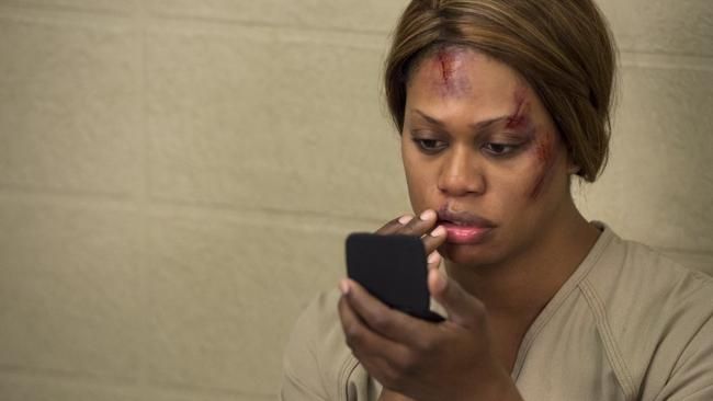 Harrowing ...  Laverne Cox, as Sophia in Orange is the New Black, says it's sometimes hard to let her character go.