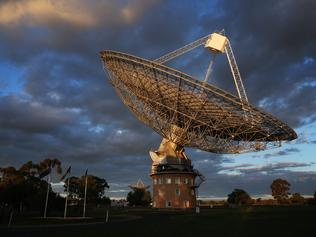 04/07/2019. CSIRO's Parkes Radio Telescope, situated outside the town of Parkes in Western NSW. Ahead of the 50th anniversary of the historic Apollo 11 Moon landing. Pictures received by the telescope of Neil Armstrong's first steps on the lunar surface of the moon were broadcast around the world on 21 July 1969. Britta Campion / The Australian