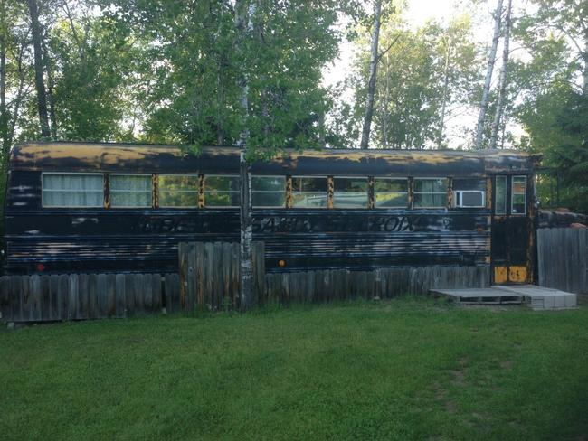 The inside of Danielle's rented bus was nothing like the outside. Picture: Danielle Ditzian