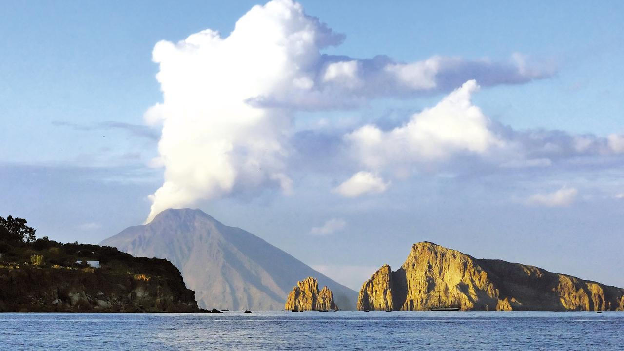 The stunning silhouette of Stromboli off Italy. Picture: Supplied