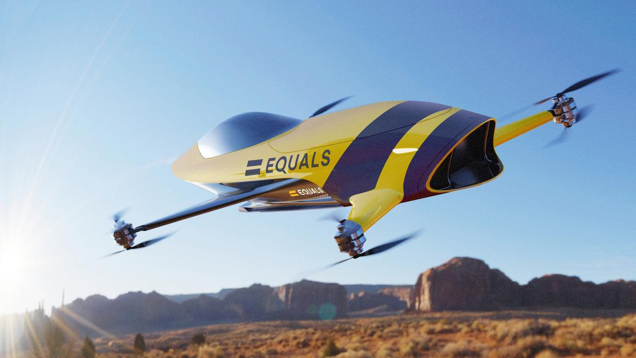 Airspeeder manned octocopter concept.