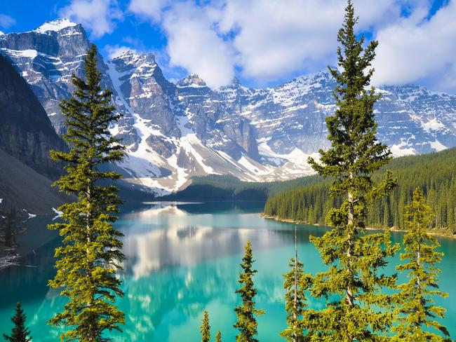 ROAD TRIP THROUGH THE ROCKIES, ALBERTA Arguably the greatest mountain road trip in North America, a drive through the Canadian Rockies promises a montage of towering, jagged mountains, vast glaciers, dazzling aquamarine lakes and quintessential Canadian wildlife in their natural habitat. If that doesn't get your motor running, there's also an abundance of outdoor activities and stunning camp sites along the way.
