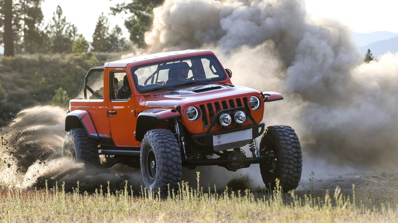 Jeep Wrangler Sandstorm concept.