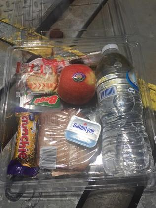 Lunch is served ... a passenger Tweeted this image of the emergency catering. Picture: Twitter / Siobhan Heanue