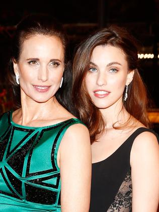 MacDowell and her daughter Rainey Qualley at the 64th Berlinale International Film Festival. Picture: Andreas Rentz/Getty Images