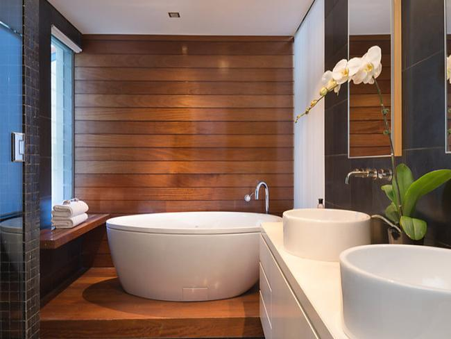 Luxury bathrooms offer an opportunity to unwind.