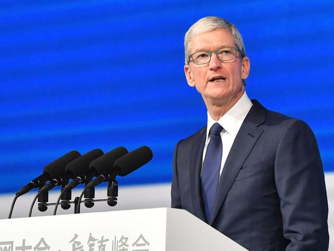 Apple CEO Tim Cook. Picture: AFP