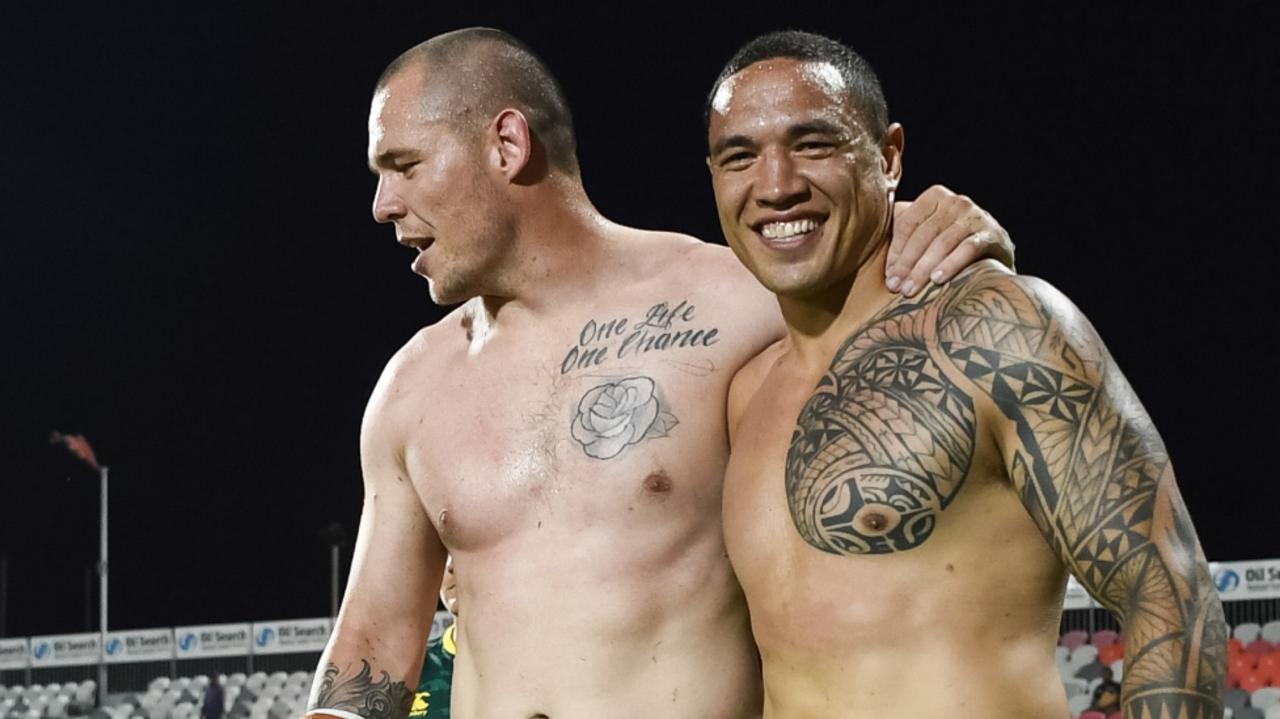 David Klemmer and Tyson Frizell have played plenty of rep footy together. Picture: Nathan Hopkins/NRL Photos