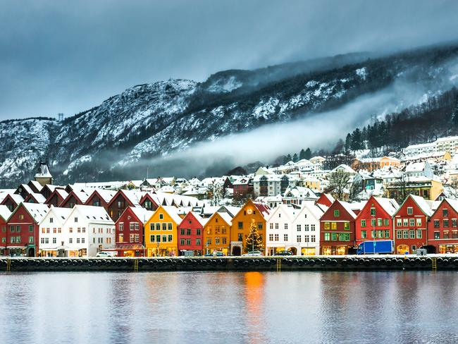 9. VISIT THE REAL-LIFE FROZEN TOWN, NORWAY For a storybook holiday that's hard to top, and one that will cause endless renditions of Let It Go in the process, head to the real-life inspiration behind the town of Arendelle from smash-hit Disney movie Frozen – the storybook Norwegian town of Bergen. Reportedly the inspiration behind Anna and Elsa's fictional home kingdom, the area's dramatic, snow-capped peaks, spectacular fjords and glacier lakes, is reason enough to visit. Come during Christmastime and you can take in the festive markets and the world's largest gingerbread town (half of the citizens bake their own edible art for the annual creation). And with Frozen 2 now out, 2020 will be the perfect time to visit.