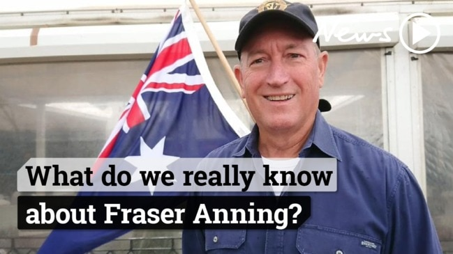Fraser Anning defends his appearance at a racist rally in Melbourne
