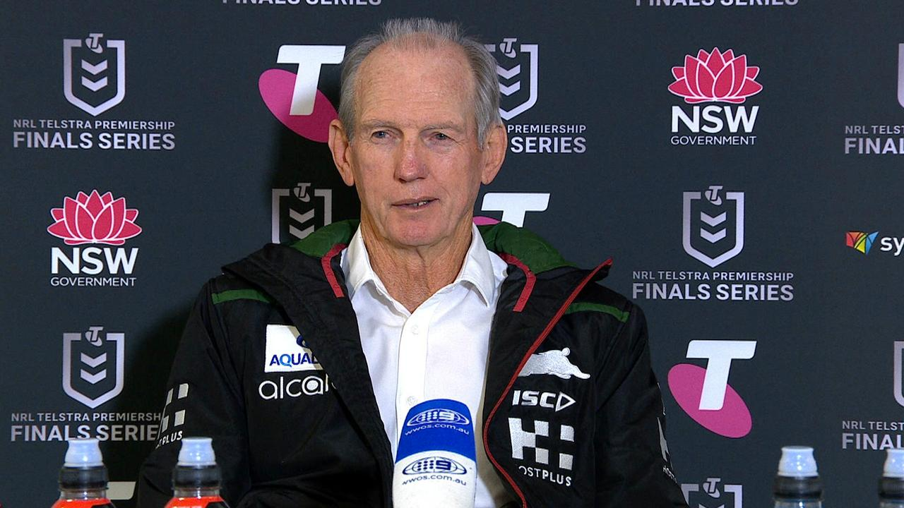 Wayne Bennett tore into his South Sydney side at halftime because he thought they were losing. They weren't