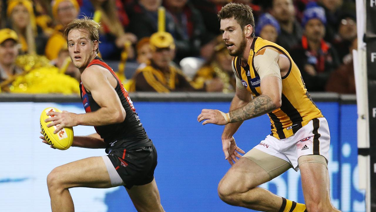 There was an awkward feeling in the crowd as Essendon defeated Hawthorn. Picture: Michael Klein