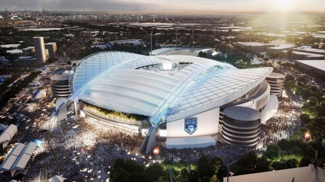 An artist's impression of the now-dumped redevelopment of ANZ Stadium. Picture: NSW Planning Department