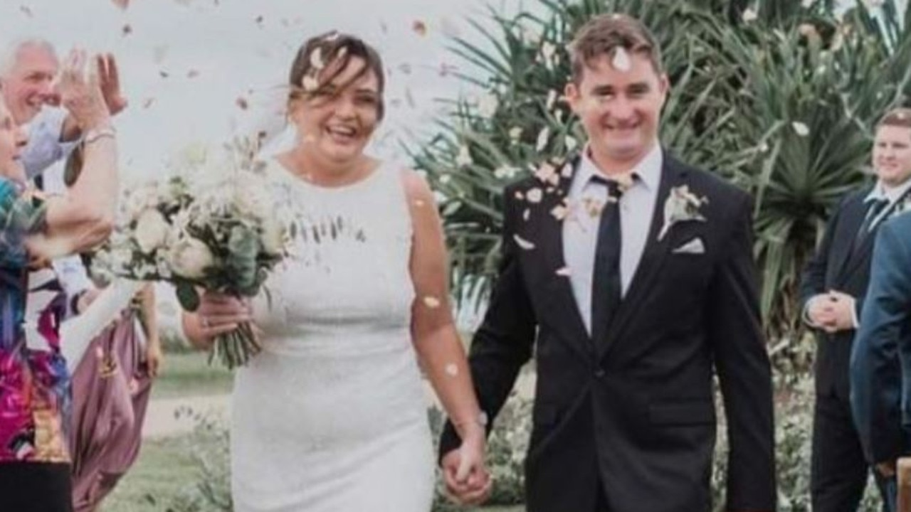 The man who died in a shark attack on Shelly Beach has been identified as Timothy Thompson, who leaves behind pregnant wife Kate. Picture: GoFundMe